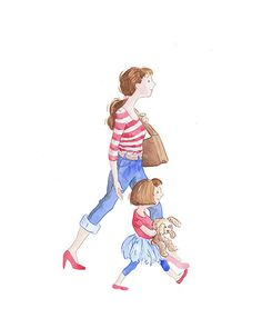 Mom+and+Daughter by+JaneHeinrichs