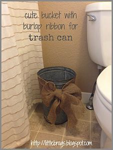 Little Brags: Guest Bedroom and Rusty Buckets. Maybe not the bow but using my we… Little Brags: Guest Bedroom and Rusty Buckets. Maybe not the bow but using my well bucket as trash bin might. Buffet Party, Casa Stark, Do It Yourself Decoration, Do It Yourself Organization, Diy Bathroom, Burlap Bathroom Decor, Master Bathroom, Downstairs Bathroom, Design Bathroom