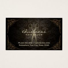 247 best hairstylist business cards images on pinterest vintage damask hair stylist salon appointment salon business cardshairstylist colourmoves