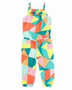 Geometric Print Romper. Just got this for Lilly. It is almost to cute to handle.