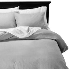Mini Fray Linen Duvet Set - The Industrial Shop™ : Target