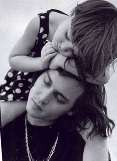 johnny depp and his daughter .. a beautiful photograph ...