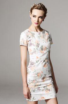 Morpheus Boutique  - White Floral Pattern Cap Sleeve Designer Dress , $129.99 (http://www.morpheusboutique.com/new-arrivals/white-floral-pattern-cap-sleeve-designer-dress/)