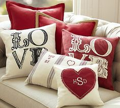 Love Pillow Collection #potterybarn @Abbey Adique-Alarcon Adique-Alarcon Adique-Alarcon Belcher