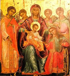 Saint Catherine the Great-martyr of Alexandria. on November 25 *Icon: Christ gives the ring to Saint Catherine  .