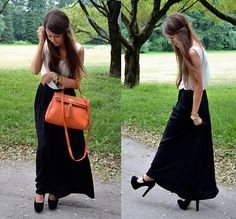 How to wear a maxi skirt & not look dumpy