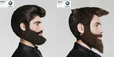 Featured Image for BMW ad imagines people wearing hilarious helmets made of hair and beards