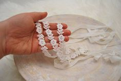 Your place to buy and sell all things handmade White Headband, Headband Baby, Newborn Photo Props, Newborn Photos, Lace Headbands, Baby Girl Newborn, Beautiful Babies, Floral Lace, Pattern
