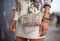 Embellished crossbody bags.