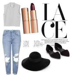 """""""Untitled #94"""" by daijah-escobar on Polyvore featuring Topshop, Monki, Charlotte Tilbury, Eugenia Kim and Nly Shoes"""