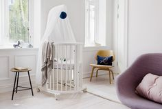 Dreamy Nursery Designs begin with Stokke <3 Stokke Sleepi Mini Crib. Sweet Dreams!