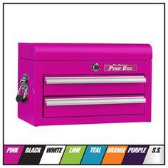 The Original Pink Box Purple Timberland Boots, Home Workshop, Cosmetic Storage, Tool Organization, Orange And Purple, Dog Grooming, Tool Box, Getting Organized, Drawers