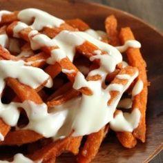 Easy Cheesy Homemade Sweet Potato Fries