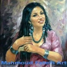 This gorgeous portrait is by the talanted egyptian artist Mahmoud Feteih