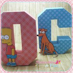Letra 3d Simpson