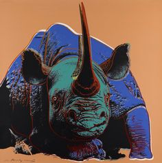 Endangered Species: Rhino, by Andy Warhol