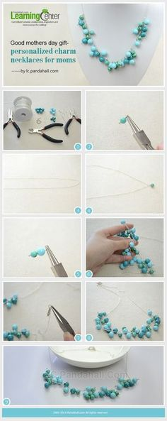 Easy Steps on How to Make a Long Turquoise Beaded Chain Necklace | PandaHall Beads Jewelry Blog