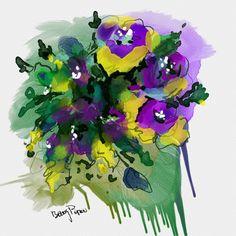 "Painted digitally in watercolor using program ""Rebelle"""