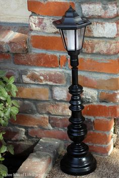 Old lamp becomes solar light redo it yourself inspirations cut thee kiss of life upcycling upcycled solar lamp posts solutioingenieria Gallery