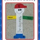 The sentence buddy serves as a great visual aide for kiddos who are learning about the parts of a complete sentence: capital letter, noun, verb, an...