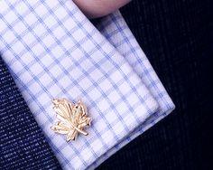 Luxusné zlaté manžety v tvare listu