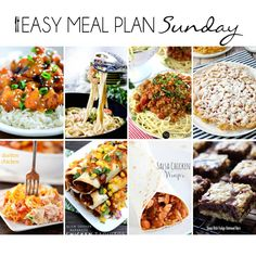 Easy Meal Plan Sunday #7