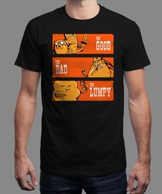 """""""The Good, the Bad and the Lumpy"""" is today's £8/€10/$12 tee for 24 hours only on www.Qwertee.com Pin this for a chance to win a FREE TEE this weekend. Follow us on pinterest.com/qwertee for a second! Thanks:)"""
