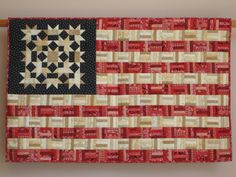 Flag No. 2 wall quilt by tinacurran on Etsy