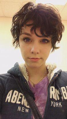 Cute short curly haircut
