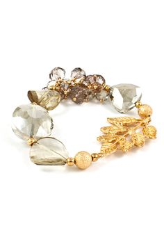 Crystal Lilly Bracelet in Champagne on Emma Stine Limited