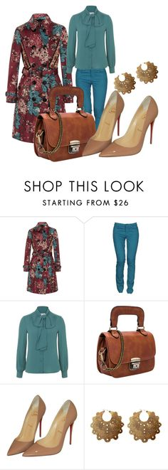 """"""".,"""" by aifosbr ❤ liked on Polyvore featuring beauty, Burberry, Caractère, Whistle & Wolf, Christian Louboutin and Laurel Hill"""