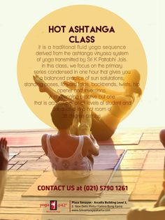 HOT ASHTANGA for not so flexible ones who want to get into ashtanga practice and only can do 60 minutes class and sweat it out. Every monday, wednesday, sunday Plaza Senayan Arcadia Studio. Forward Fold, Standing Poses, Bikram Yoga, Sweat It Out, Body Love, Yoga Sequences, Jakarta, Flexibility, Studio