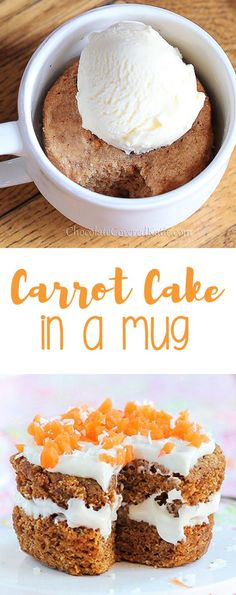 Carrot Cake In A Mug | Food And Cake Recipes