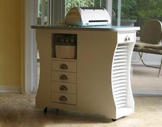 Cricut workstation with storage for 12x12 paper
