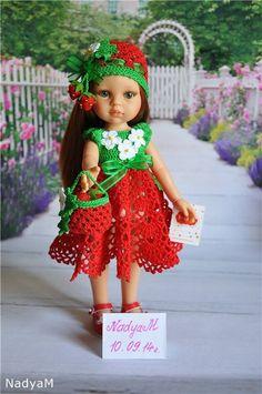 """Зеленоглазая Кристи в наряде """"Клубничка-земляничка"""" / Игровые куклы / Шопик. Продать купить куклу / Бэйбики. Куклы фото. Одежда для кукол"""