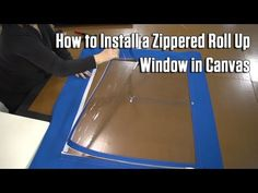 Sailrite youtube How to Install a Zippered Roll Up Window in Canvas
