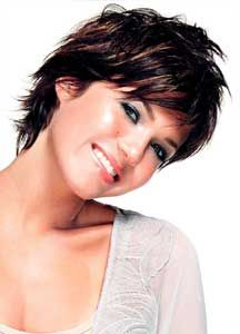 Short Dark Hair With Highlights | mandy moore short tuxtured dark color with highlight