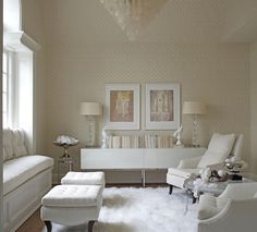 Dreamy White Room - Just add a touch of color