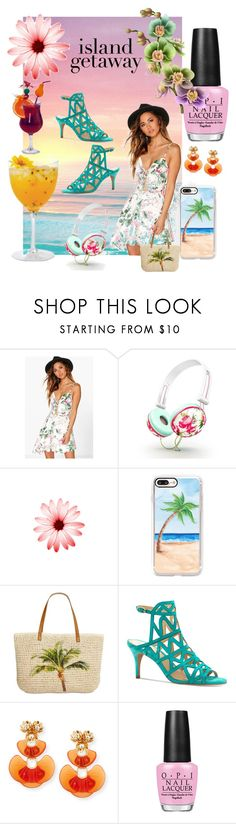 """Beach Day 🏝"" by siljesfashionscene ❤ liked on Polyvore featuring Isharya, Boohoo, Casetify, Style & Co., Vince Camuto, Lele Sadoughi and OPI"