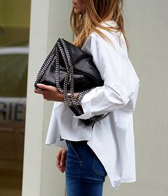 www.helloshopping.de, new white office blouse, weiße bluse, trends, 2016, spring, frühling, style, classics, volants, überlange ärmel, musthave, wardrobe staple, büro look, ootd, streetstyle, berlin, denim, schlagjeans, flare pants, 70ies, boho, bohemian, stella mccartney falabella bag, how to wear, get the look, fashion blogger, hello shopping, personal shopper