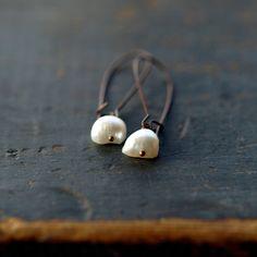 Demeter Pearl Earrings Natural Freshwater Pearl by ShopClementine.
