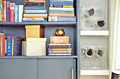 Office storage: http://www.stylemepretty.com/living/2015/04/01/a-bright-and-cheery-home-office-transformation/ | Design: Nicole White - http://www.livelaughdecorate.com/