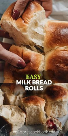 Make Hokkaido style milk bread rolls with this simple recipe. These milk bread rolls are super soft, airy, moist, and slightly sweet. Bread Maker Recipes, Easy Bread Recipes, Banana Bread Recipes, Icing Recipes, Chickpea Recipes, Carrot Recipes, Cabbage Recipes, Broccoli Recipes, Roast Recipes