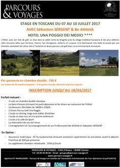 Week end en Italie du 7 au 10 juillet Be Athletik et golf Avec loic Gambardella et Sébastien Sergent