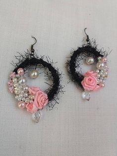 Rose flower bridal earrings Occasional jewelry Swarovski Gift