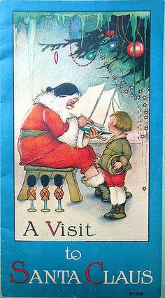 Old Christmas Book by goddess of chocolate, via Flickr / Christmas Card Art…