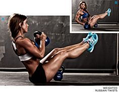 Ab Exercise: Weighted Russian Twists