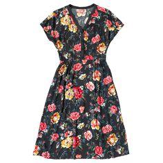 Garden Rose Button Front Crepe Dress   Fashion   CathKidston