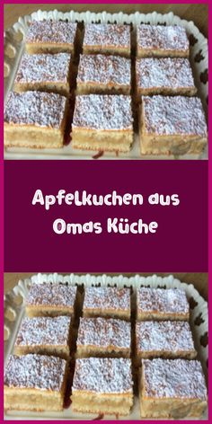 Apfelkuchen aus Omas Küche Ingredients For the dough: 400 g flour 250 g butter 150 g powdered sugar pack baking powder 2 eggs if necessary 2 tablespoons milk For the fillings … Best Dessert Recipes, Apple Recipes, Cake Recipes, Salad Recipes, Kitchen Recipes, Gourmet Recipes, Gourmet Foods, German Baking, German Recipes
