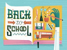 Back to School by MUTI #Design Popular #Dribbble #shots